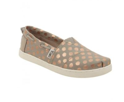 efc589acfc3 TOMS BIMINI YOUTH 4 Drizzle Grey Rose Gold Foil Polka Dot -  25.99 ...