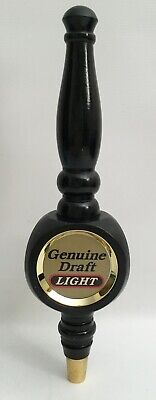 Miller Genuine Draft LIGHT Wooden Tap Handle