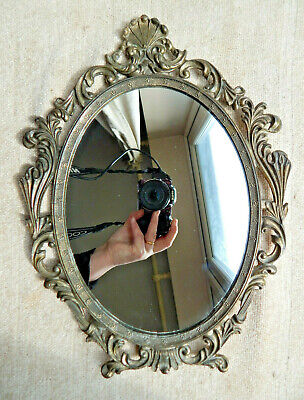 Vintage Mirror Art Nouveau Style Italy Ornate Gilded Wall Mirror 32.5cm x 24cm