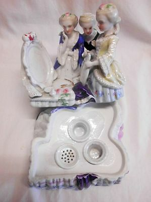 antikes Porzellan-Tintenfass-Boudoir-antique french hidden porcelain inkstand