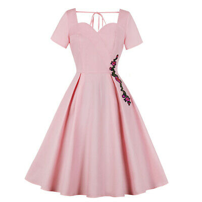Sexy Ladies Womens Jive Swing 1940s 1950s Rockabilly Vintage Style Party Dress