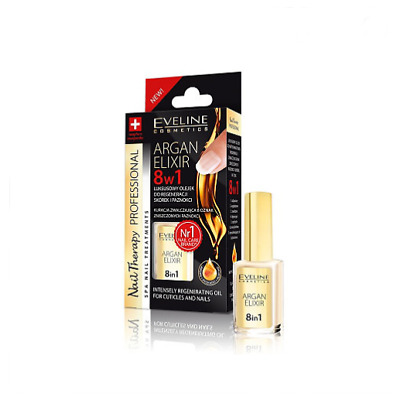 EVELINE 8in1 ARGAN ELIXIR INTENSELY REGENERATING OIL FOR CUTICLES & NAILS 12ml