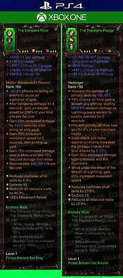 Diablo 3 PS4 - Xbox One - Modded PRIMAL Ring and Amulet Endless Walk - Softcore