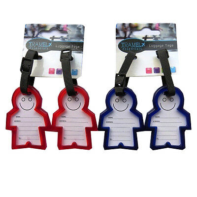 Solid Luggage Address Label Tags - 3D & Smiling Tags - Durable, Strong