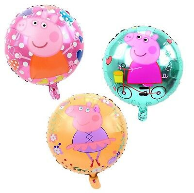 """3 new designs Peppa Pig 17"""" round foil balloons 43cm  18 inch buy 2 get 1 free"""