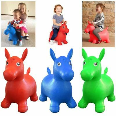Kids Play Toys Space Hopper Inflatable Animal Soft Horse Ride on Bouncy Soft UK