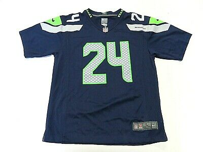 f54c6352 NFL NIKE SEATTLE Seahawks Marshawn Lynch #24 Football Jersey Youth Size  L(14-16)