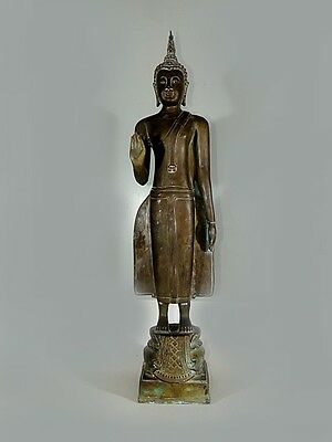"25"" Tall Antique Bronze Buddha Standing Cheap Price Don't Miss"