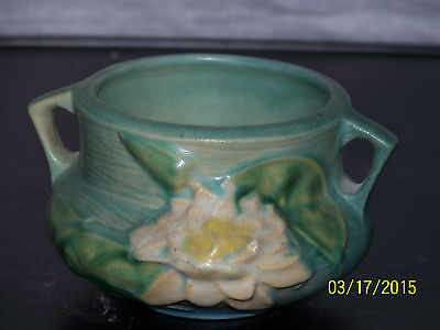Vintage Roseville Waterlily 663-3' American Art Pottery Vase