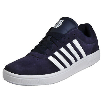 K-Swiss Court Cheswick Mens Leather Classic Casual Retro Fashion Trainers Navy