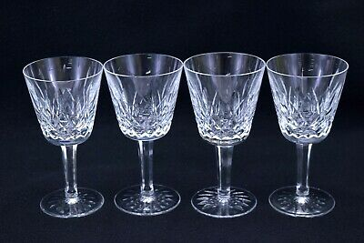 4 Waterford Crystal 'Lismore' Claret Wine Glasses