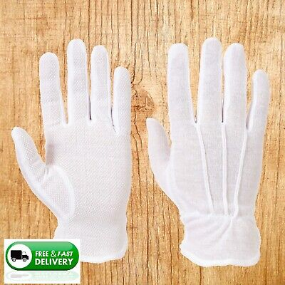 Waiters Gloves,Waitress,White High Grip Palm, Serving Gloves,Hot plate,catering