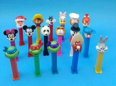 Mixed Lot Of (17) Some Vintage USED Pez Dispensers