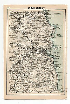 Map Of Dublin Ireland Antique