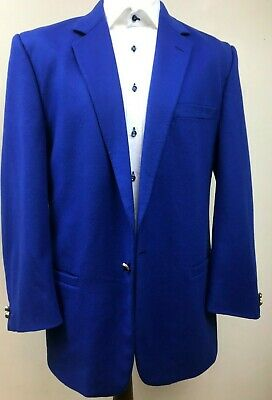 Mens Vintage Versace Jacket 42 Electric Blue. Wool and Cashmere lst2
