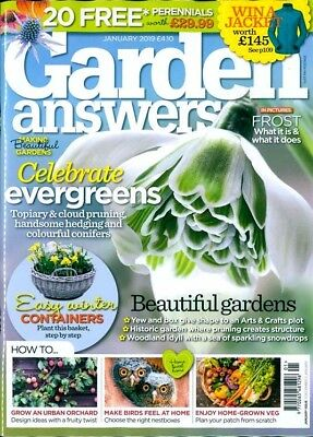 Garden Answers Magazine Issue January 2019 ~ New ~