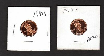 Lot Of 2 --- 1994 S Lincoln Memorial --- Proof --- Cent / Penny ---