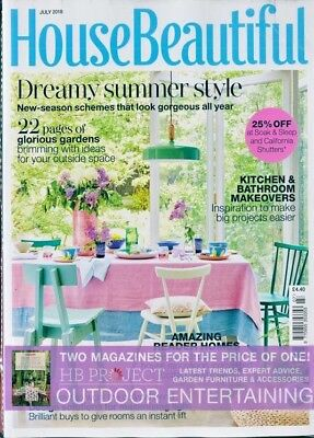 House Beautiful Magazine July 2018 ~ With Hb Project Outdoor Entertaining Mag