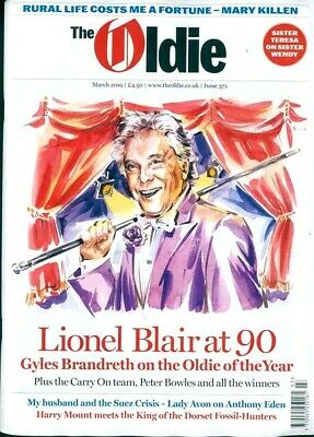The Oldie Magazine #371 - March 2019 ~ Lionel Blair At 90 ~ New ~
