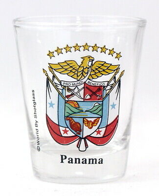 Panama Coat Of Arms Shot Glass Shotglass