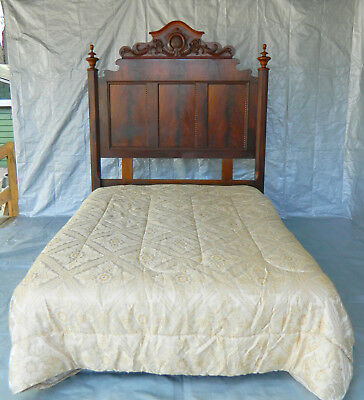 Mahogany Empire Bed~~ Headboard with Metal Frame~~Queen~~