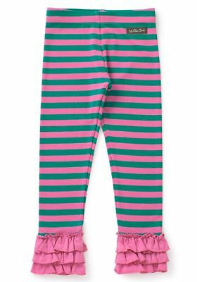 MATILDA JANE Make Believe Leggings Size 4 6 NEW Girls Pink Striped Ruffles