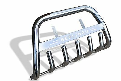 To Fit 2016 - 2019 Citroen Berlingo Polished Stainless Steel Front Bull Bar ABar