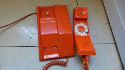 telephone Contrempra orange vintage