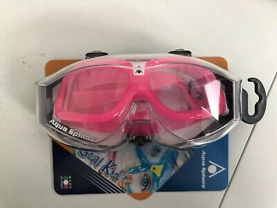 AQUA SPHERE Childs Kids SEAL 2 Swimming Goggle Mask - Pink Brand New