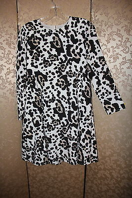 5173d3690d19d8 CeCe by Cynthia Steffe Off White Black Multi-Color Animal Prowl ASHA Dress 0