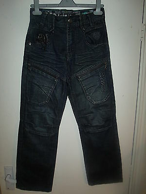 "ETO Denim 9901 Boys Indigo 7-Pocket Denim Jeans W28"" L27"" Zip Fly rrp £29.99 NEW"