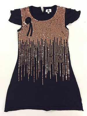 So Cute Sequinned Gold And Black '&' AND Designer Girls Dress Aged 8
