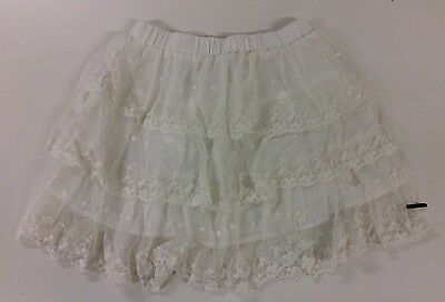 LCKR LET COOL KIDS RULE CREAM LACE AND COTTON SUMMER SKIRT AGE 7-8 Yrs