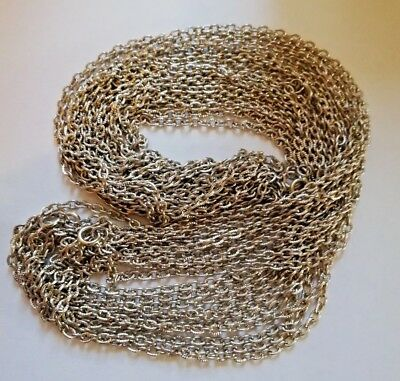 10 x Vintage Nickel Plated Steel Fancy Trace Chain Necklaces - approx 27 inches