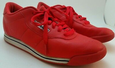 EUC Reebok Classic Princess Techy Red White Black Womens Shoes Red Sole Size 9.5