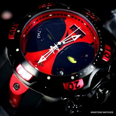 Invicta Reserve Marvel Venom Deadpool Black Red Swiss Mvt 52mm Ltd Ed Watch New