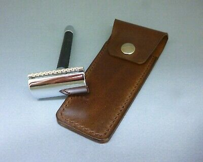 Artisan LEATHER COVER for safety razor - FUNDA DE PIEL maquinilla de afeitar