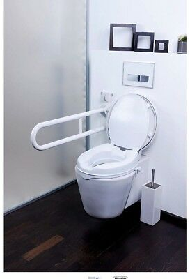 Mobility care toilet seat riser Deluxe GAH-Alberts Plastic 370 x 400 mm White