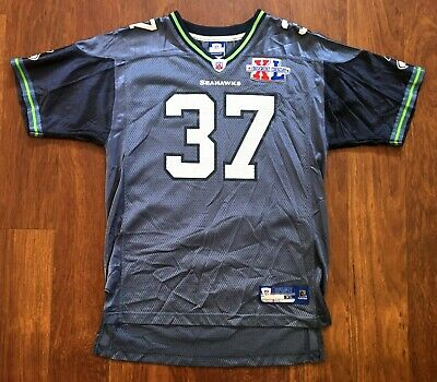 526b131819f Shaun Alexander #37 Reebok Super Bowl XL Seattle Seahawks NFL Jersey Youth  XL