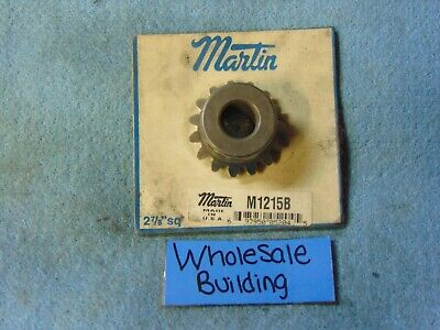 "Martin, Miter Gear, M1215B, 15 Teeth, .27"" Fw, 1/2"" Bore, 1-1/4"" Pitch Dia"