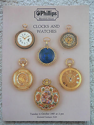Phillips Auction Catalogue, Clocks And Watches 6th Oct 1987