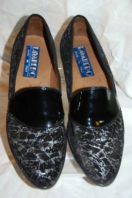 5f840b90e59 Vintage Made in ITALY Lavaredo Men s Loafers Slip-On Shoes Black Leather IT  41