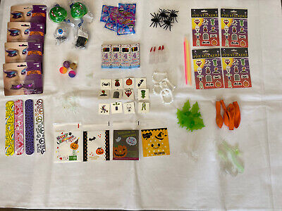 100 Halloween Party favour Bag Fillers Toys Favours Lucky Dip Prizes Trick Treat