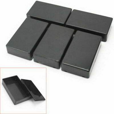 DIY ABS Plastic Box for Electronics Hobby Projects Enclosure Case Black UK NEW