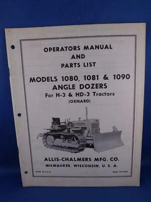 VINTAGE ALLIS-CHALMERS OPERATORS Manual Models 1080 1081