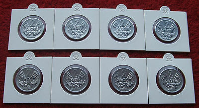 Poland Set Of Coins Prl 2 Zlote Jagody Berries !! 8 Pieces ! Super Lot 8 Pcs Kpl