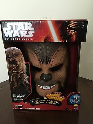 Star Wars The Force Awakens Chewbacca Electronic Mask |BRAND NEW SEALED HASBRO