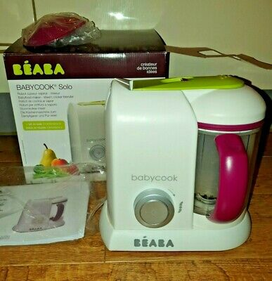 Beaba Babycook Solo 4 In 1 Baby Food Processor. Steams Blends Reheats Defrosts