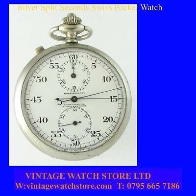 P Oona & Sons of Madras & Rangoon Chronograph Split Seconds Stop Watch 1910