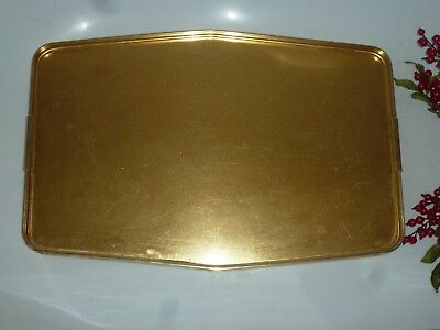 Vintage Brass Large Serving Tray Butler Retro Man Cave Bar Kitchen Art Crafts